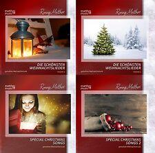 4 CDs - Gemafreie Weihnachtsmusik | instrumentale Weihnachtslieder & mit Gesang