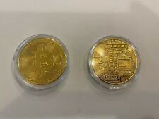 Gold Bitcoin Fast Ship Coin New Gold Plated Bit Coins In Plastic Case Beautiful