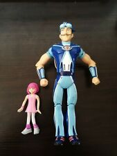 Lazy Town Stephanie figure and sportacus (not talking) figure