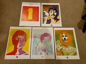 The Beatles Set of 5 Lithograph Prints for '1' Promo Limited Set (1967 R Avedon)
