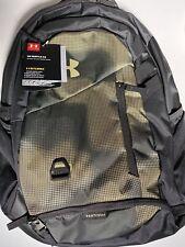 NWT Under Armour UA Hustle 4.0 Backpack Khaki / Green Camo Bag Laptop School
