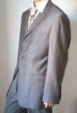 Giorgio Armani Super 150's Wool Blend Gray Striped Blazer Jacket
