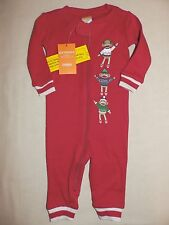 Gymboree Red Sock Monkey Holiday Pajamas Gymmies PJs 1 piece Romper NWT 3-6 RARE