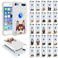 For Apple iPod Touch 5 5th/ 6 6th/ 7th Gen Dog Design Bling Hybrid Case Cover