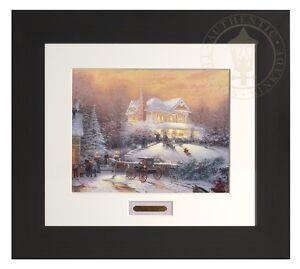 Thomas Kinkade Victorian Christmas II 11 x 14 Home Collection Espresso Frame