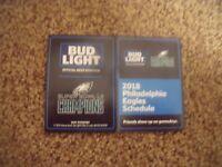 2018 Philadelphia Eagles (Super Bowl LII Champions) Bud Light pocket schedule