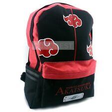 Naruto Akatsuki Red Cloud Logo Backpack Sports Backpack
