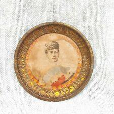 1910s Vintage Princesse Victoria Mary De Teck Litho Papier Décoratifs Boite