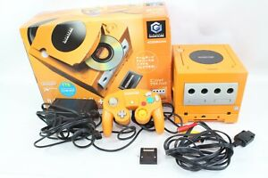 Nintendo GameCube Console orange Game boy player Box Tested working japan