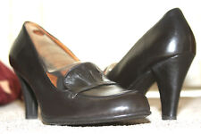 "Womens Shoes BOLO 'Ebano' Leather Everyday Business Pumps 3.5"" Heels NIB Size 11"
