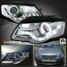 fit 06-10 VW Passat LED Daylight Clear Halo Projector Headlights B6 Head Lamps