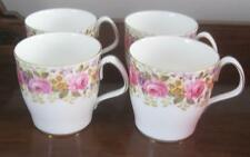 4 Royal Albert Serena Flat Coffee Cocoa Chocolate Mugs  Lovely c. 1935+