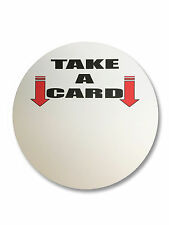 """7"""" Round White Magnet that will work with Outdoor Business Card Holder"""