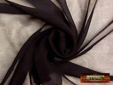 M00038 MOREZMORE Thinnest Thin Sheer 100% Silk Gauze Doll Clothes Black 1Y A60