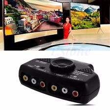 2Way Audio Video AV RCA Game Selector Switch Box Splitter Cable 3RCA Fr XBox DVD