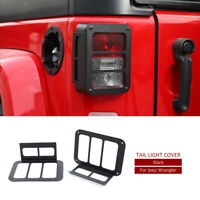 Rear Tail light Lamp Cover Taillight Guard for 07-17 Jeep JK Wrangler Unlimited