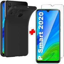 Cover Per Huawei P Smart 2020 + Pellicola Vetro Temperato Custodia Silicone Nera