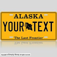 Alaska State License Plate Tag Personalized Custom Old Style The Last Frontier