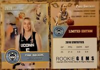 Paige Bueckers 2020 Limited Edition Custom Rookie Trading Card. UCONN Huskies