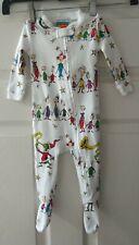 Pottery Barn Kids Dr. Seuss Christmas Pajama Footed Sleeper Baby 3-6 Months