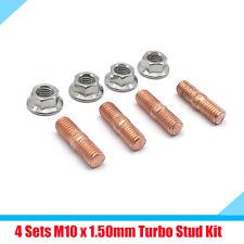 4 Sets M10 x 1.50mm Thread Turbo Studs Kit Flange Nuts Alloy Steel T3 T4 T5 T6