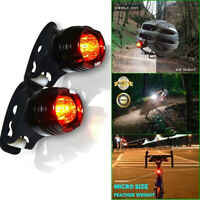 2 Pack Bike Bicycle Red LED Rear Light 3 modes Waterproof Tail Lamp Black
