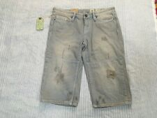 All Saints Casey carpenter Bryce frayed jeans short striped so magnolia pearl 27