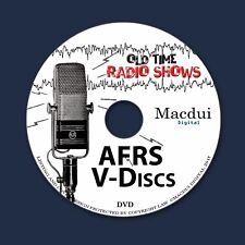 AFRS V-Discs Old Time Radio Shows Variety 498 OTR MP3 Audio Files on 1 Data DVD