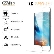 3D HD SLIM Glass Screen Protector Full Edge Cover for iPhone 7 (White) - Offer