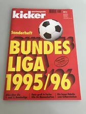 Kicker Sonderheft Bundesliga 1995/96 vollständig und unbenutzt Stecktabelle 1996