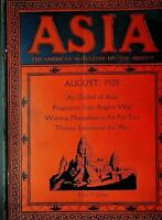 Asia Magazine August 1920 Angkor Wat Korea Japanese Fishermen Thomas Lawrence