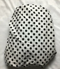 Ralph Lauren White/  Black Polka Dots Cotton Twin Fitted Sheet