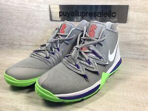 Nike Kyrie 5 (GS) Wolf Grey/White-Lime Blast AQ2456-099 Size 7Y