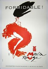 Vintage French Moulin Rouge Poster on Linen