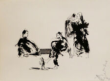 PEOPLE 2 original art drawing ink and on paper 24X32 cm artist FREDERIC BELAUBRE