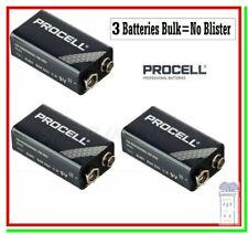 3 Batterie 9v Duracell Procell Transistor 9 volt 9 v block 6LR61 ID1604 6LF22