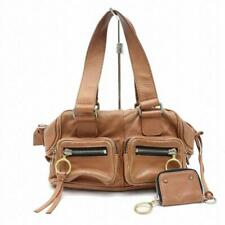 Chloe Brown Leather Satchel with Pouch 870032