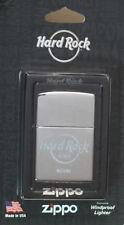 Hard Rock Cafe MIAMI 2017 Silver Chrome ZIPPO Lighter New on Card Sealed Sticker