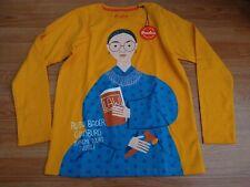 NWT Piccolina Ruth Bader Ginsburg Long Sleeve Trailblazer Tee Size 14 Yellow