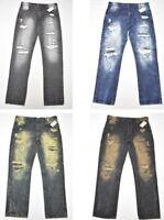 $55 NWT Mens Southpole Jeans Distressed Slim Straight 5-Pocket Denim Urban N549