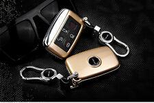 Gold Remote Gold FOB Key Cover Case Bag Fit For Land Rover Evoque Freelander 2