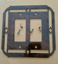 SWITCH PLATE COVER DOUBLE ROCKER NEW- WESTERN,RUSTIC METAL