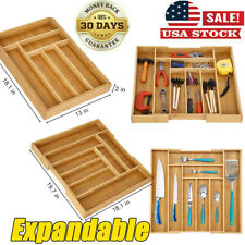 Expandable Cutlery Flatware Drawer Utensil Tray Kitchen Organizer Storage US TW