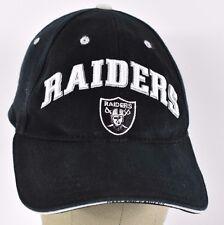 Black Oakland Raiders Football Logo Embroidered baseball hat cap adjustable