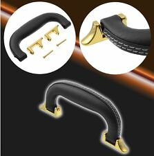 16cm Black Guitar Musical Case Luggage Leather Replacement Handle Strap + Screw