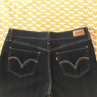 Women's Levi's 518 SUPERLOW BOOTCUT Jeans W31 L32 Blue Bootcut Flare Denim