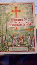 CHINE Indochine Algérie Madagascar Almanach 1914 Colonies Françaises