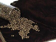 28929 Set/2 Decorative Gold Balls~Bowl Vase Filler~Christmas Everyday Decor