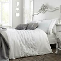 White Duvet Covers Sequin Sparkle Luxury Quilt Cover Caprice Home Bedding