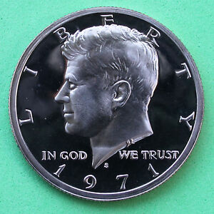 1971 S Kennedy Half Dollar CN Clad 50c Proof Coin JFK 50 Cents